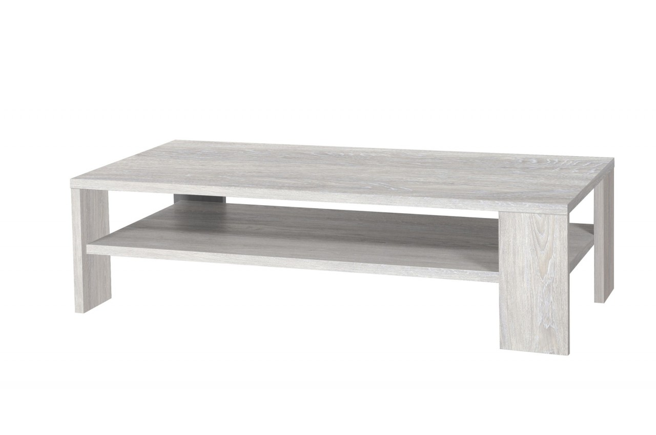 Table basse design rectangulaire en bois 2 plateaux calisot cbc meubles for Table basse moderne bois