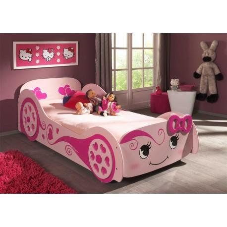 Lit Voiture Design Rose 90x200 cm FUNNY