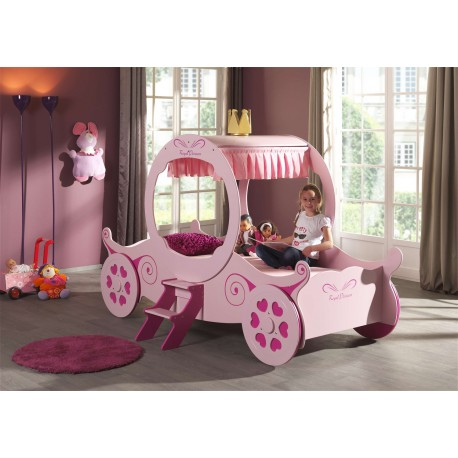 lit carrosse rose design 90x200 cm kate cbc meubles. Black Bedroom Furniture Sets. Home Design Ideas