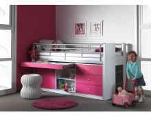 Lit Combiné 5 coloris au choix 90x200 cm- bureau- rangement