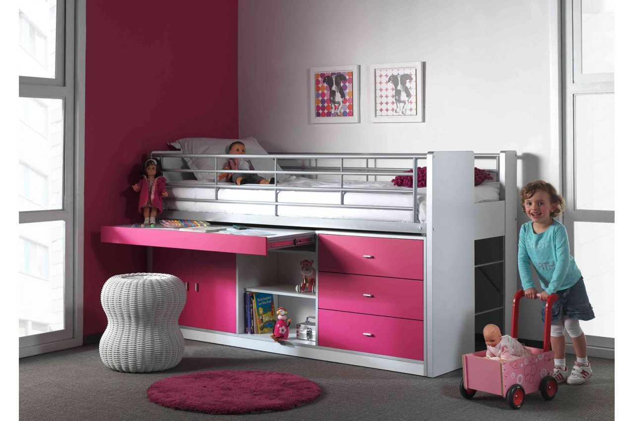 lit combin 5 coloris au choix 90x200 cm bureau. Black Bedroom Furniture Sets. Home Design Ideas