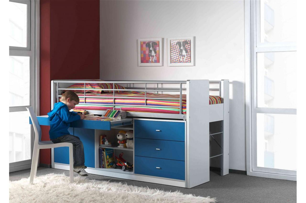 Lit combin 5 coloris au choix 90x200 cm bureau for Meuble bureau lit