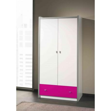 Armoire de Rangement Blanche- 2 portes- 1 tiroir JACK