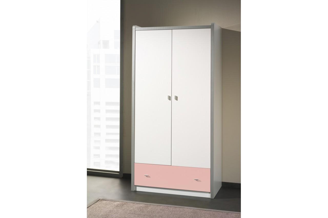 armoire de rangement blanche 2 portes 1 tiroir jack cbc meubles. Black Bedroom Furniture Sets. Home Design Ideas