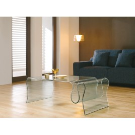 Table Basse Design en verre porte revues TAO