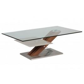 Table Basse Design verre 12 mm et bois MILOVA 1260