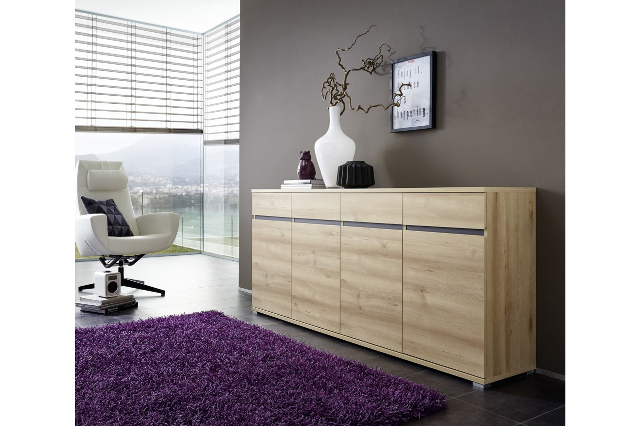 bahut buffet salon design d cor bois h tre 192 cm cbc meubles. Black Bedroom Furniture Sets. Home Design Ideas