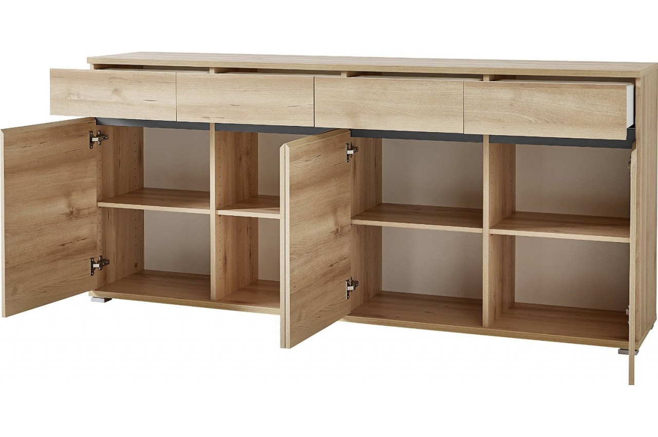 Bahut buffet salon bois oscar cbc meubles for Bahut salon
