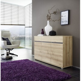 Bahut Buffet Salon Design décor bois hêtre OSCAR
