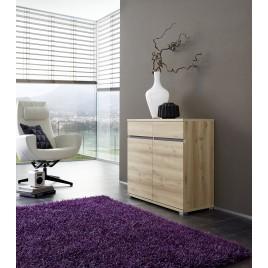 Commode Salon Design décor bois hêtre - 96 cm