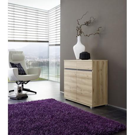 commode bois 2 portes et 2 tiroirs oscar cbc meubles. Black Bedroom Furniture Sets. Home Design Ideas