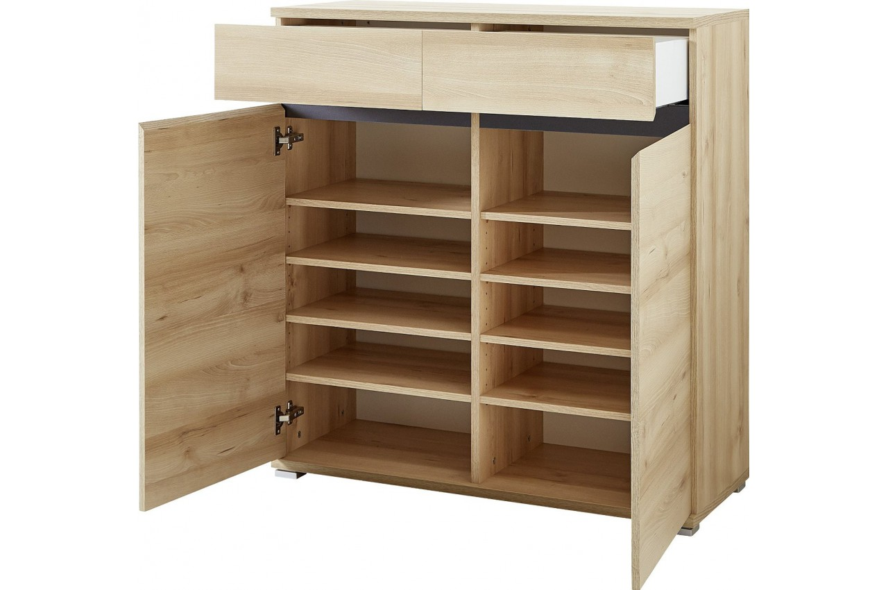 Meuble chaussures d cor bois h tre oscar cbc meubles - Meuble a chaussure en bois ...