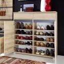 Meuble chaussures décor bois hêtre - 20 paires