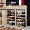 Meuble chaussures décor bois hêtre OSCAR