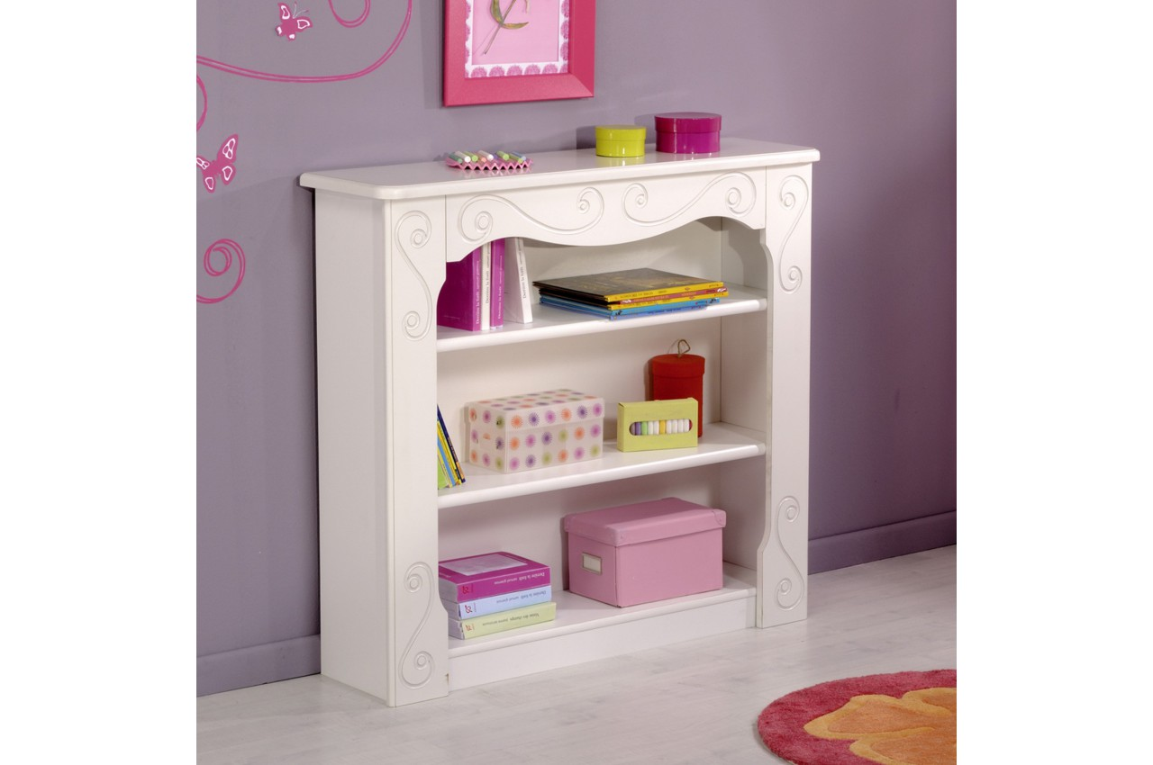 biblioth que rangement blanc brillant cbc meubles. Black Bedroom Furniture Sets. Home Design Ideas