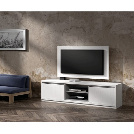 Meuble TV design et Panneau TV blanc NORA K39