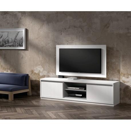 Meuble TV design et Panneau TV blanc