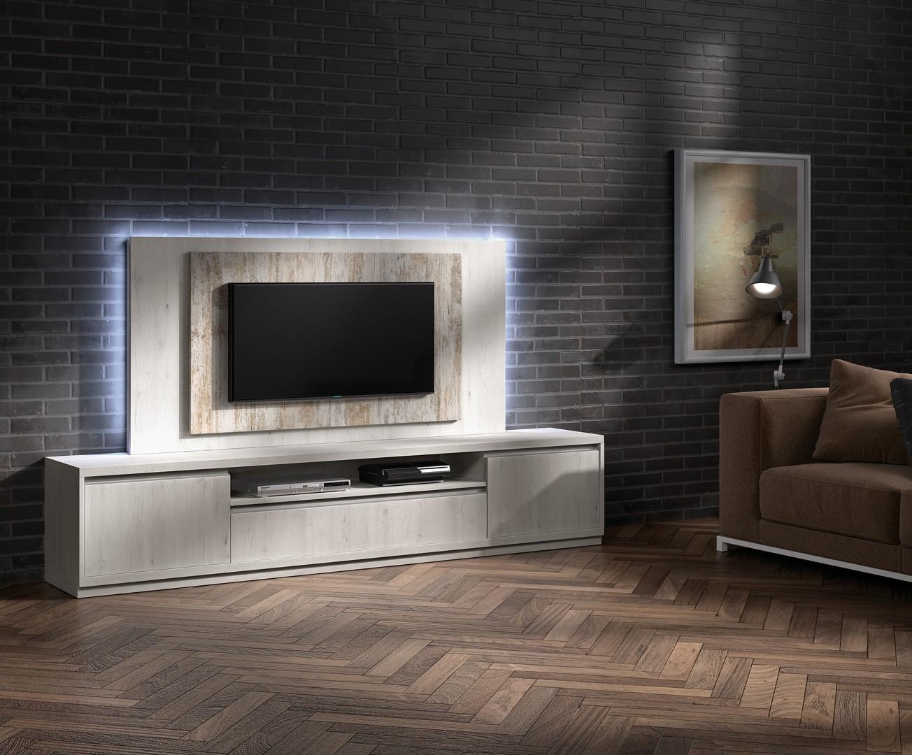 Meuble Tv Design Meuble Tv Bas Pour T L Vision Cbc Meubles # Composition Design Meuble Tele Planche Bois
