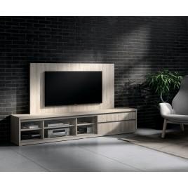 Meuble TV design et panneau TV orme