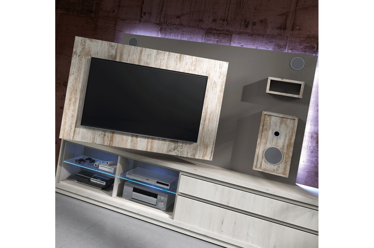 meuble tv design avec enceintes int gr es nora k45 cbc meubles. Black Bedroom Furniture Sets. Home Design Ideas