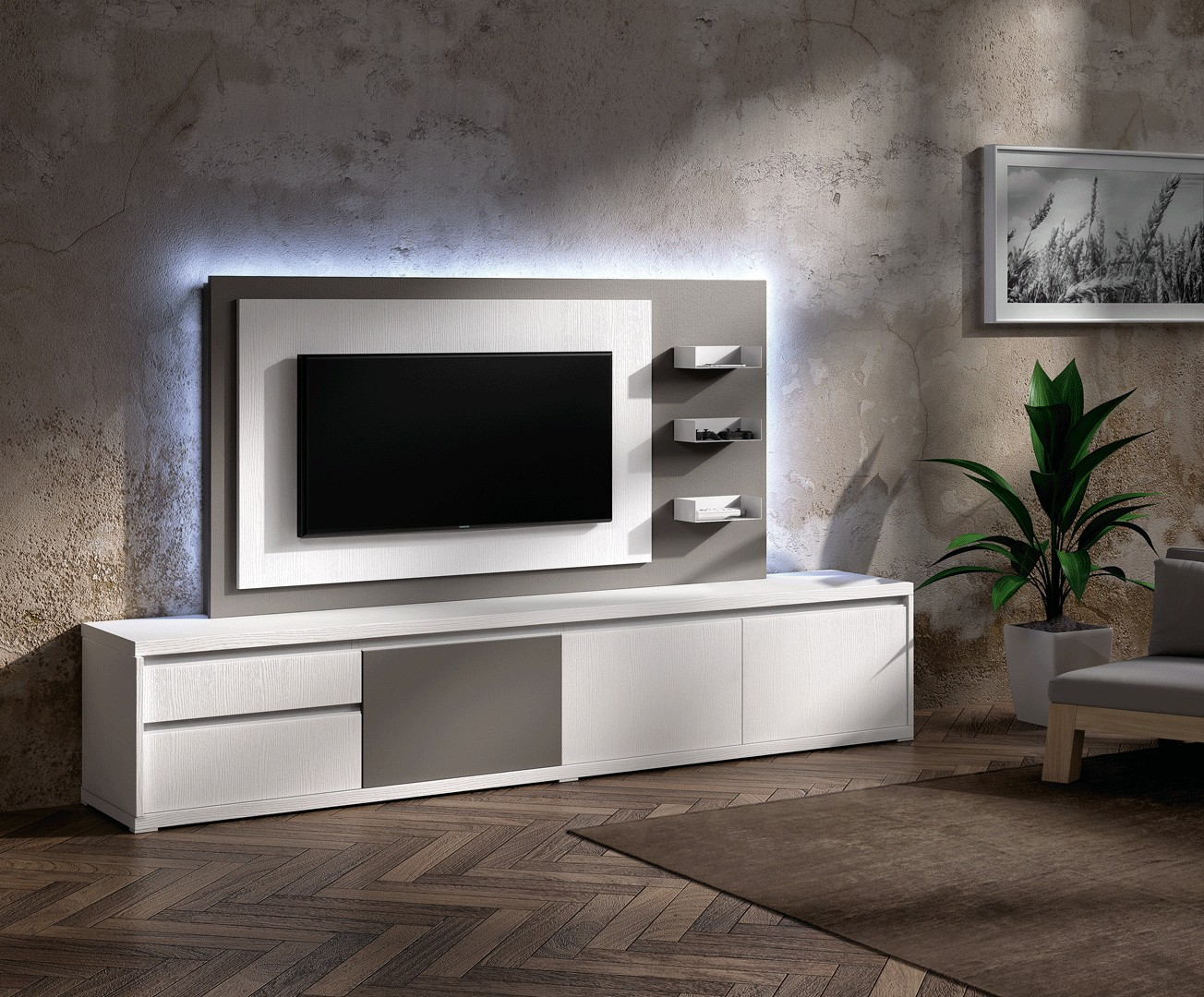 Meuble Tv Design Meuble Tv Bas Pour T L Vision Cbc Meubles # Panneau Tv Mural