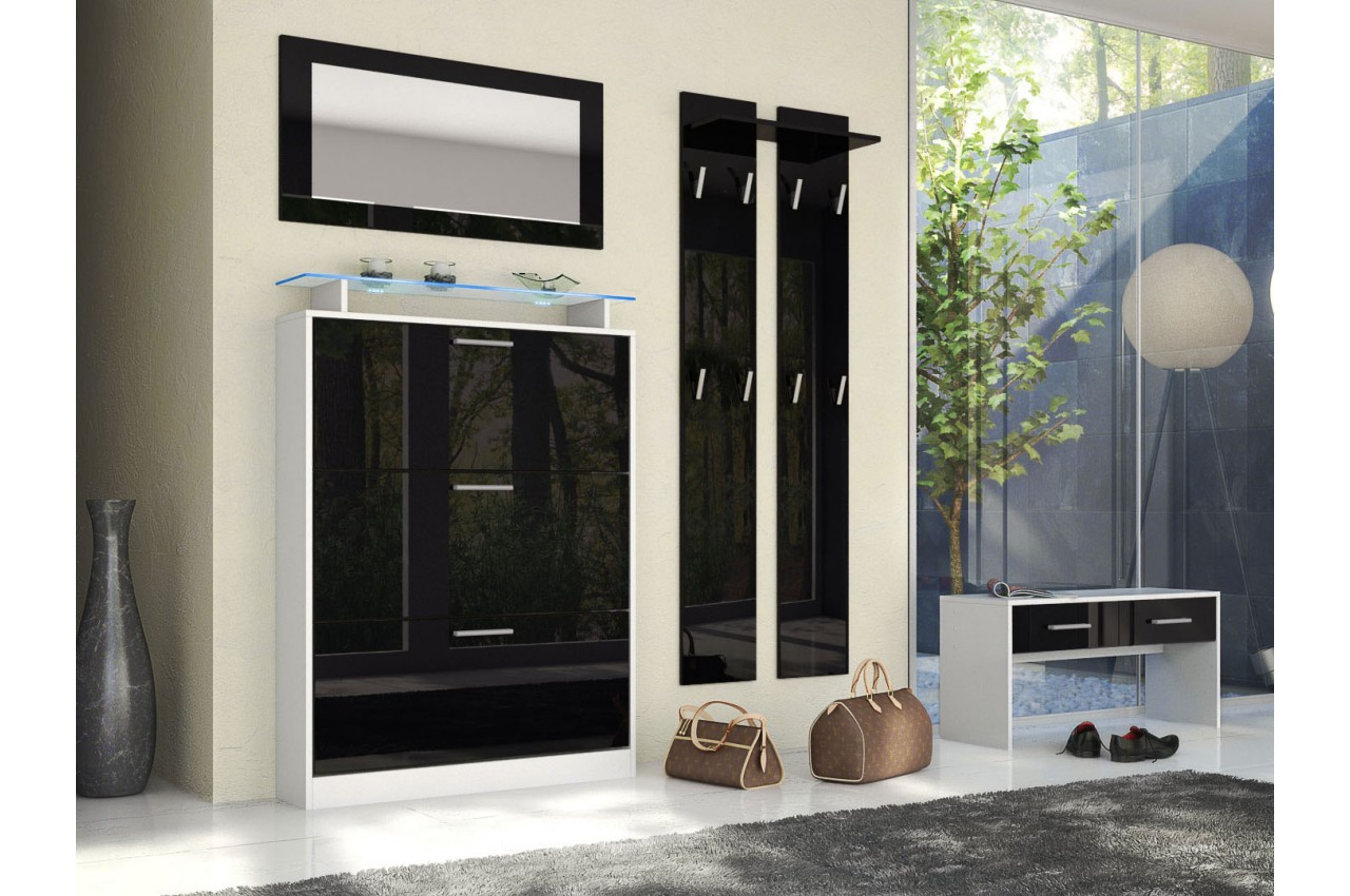 Combiné de meuble entrée design EDELWEISS - Cbc-Meubles
