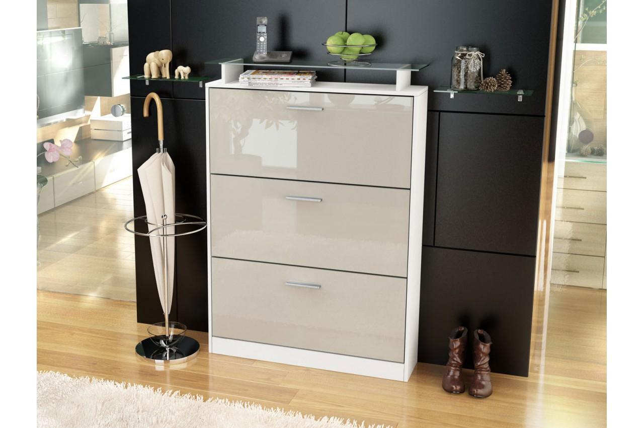 meuble chaussures design 18 paires cbc meubles. Black Bedroom Furniture Sets. Home Design Ideas