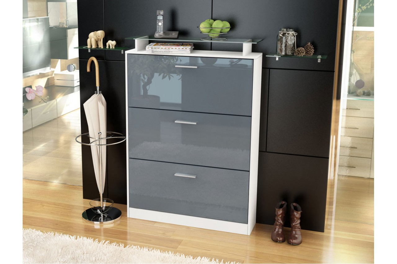 meuble chaussures design 18 paires cbc meubles. Black Bedroom Furniture Sets. Home Design Ideas