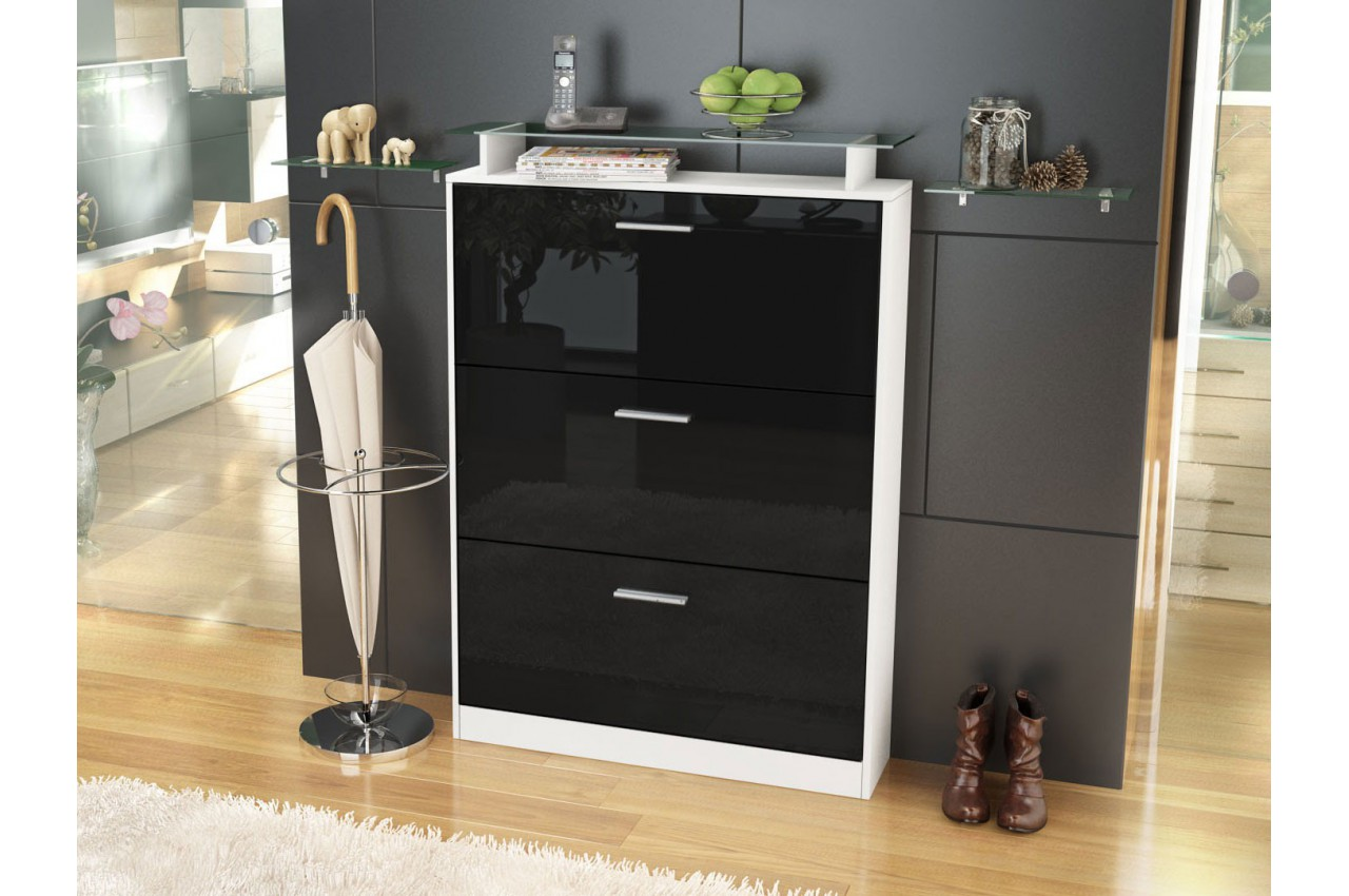 meuble chaussures design 18 paires edelweiss cbc meubles. Black Bedroom Furniture Sets. Home Design Ideas