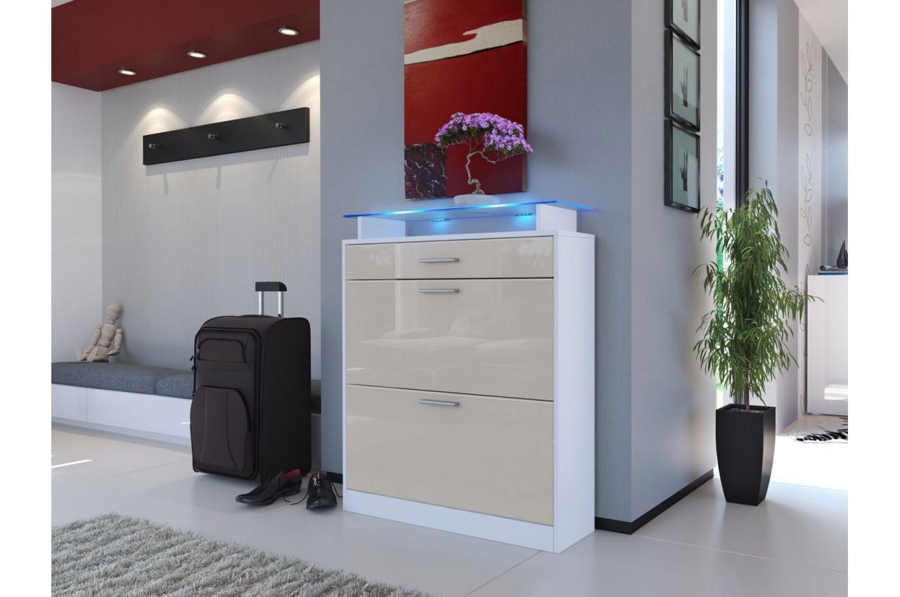 meuble chaussures design laqu bois cbc meubles. Black Bedroom Furniture Sets. Home Design Ideas
