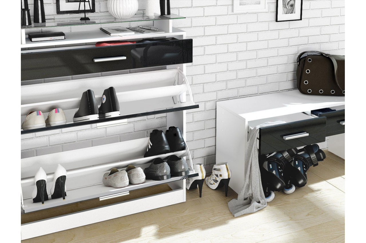 meuble entr e vestiaire design bluebell large cbc meubles. Black Bedroom Furniture Sets. Home Design Ideas