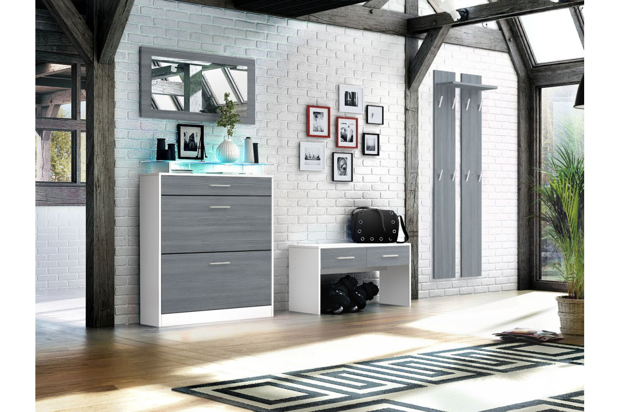 meuble entr e vestiaire design bluebell large cbc meubles. Black Bedroom Furniture Sets. Home Design Ideas