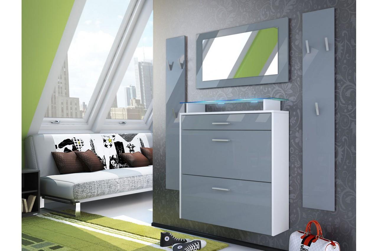 range chaussures mural vestiaire miroir bluebell large v1 cbc meubles. Black Bedroom Furniture Sets. Home Design Ideas