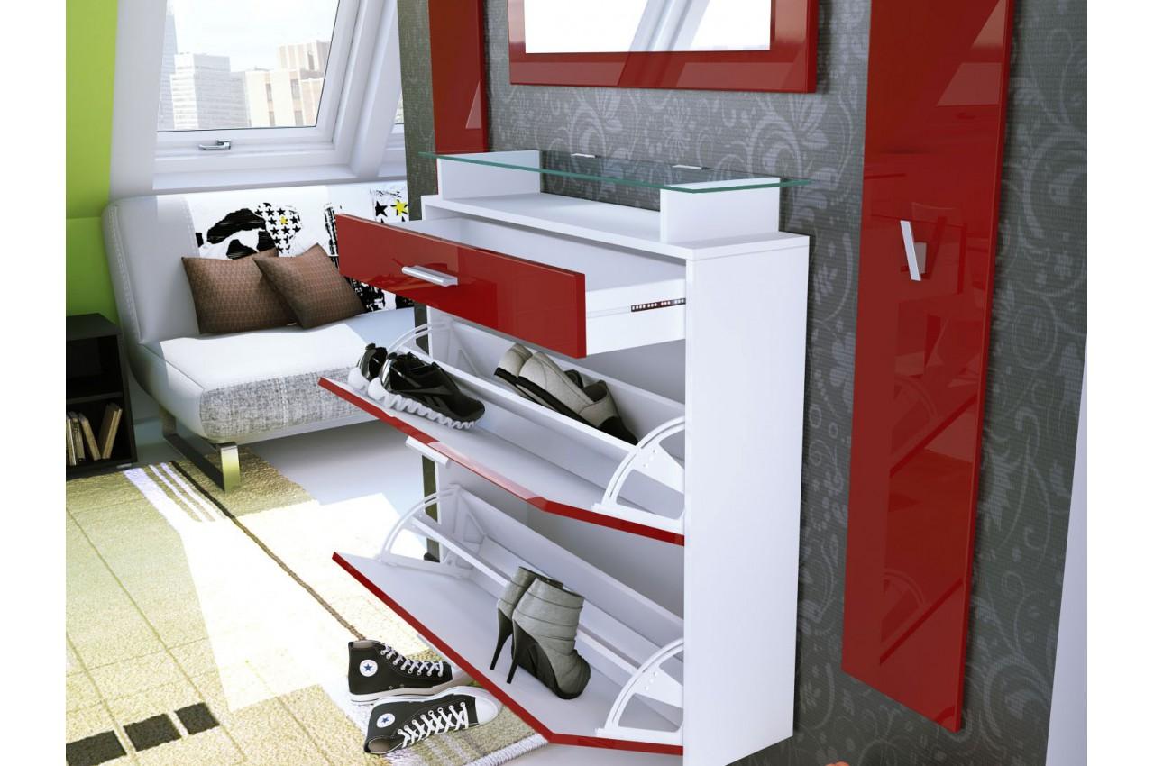 range chaussures mural vestiaire miroir cbc meubles. Black Bedroom Furniture Sets. Home Design Ideas