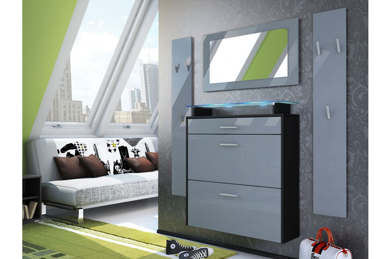 ensemble meuble entr e suspendu cbc meubles. Black Bedroom Furniture Sets. Home Design Ideas
