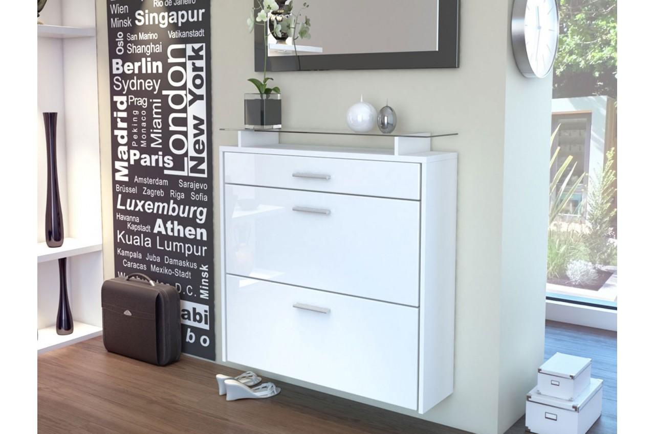 meuble range chaussures design suspendu cbc meubles. Black Bedroom Furniture Sets. Home Design Ideas