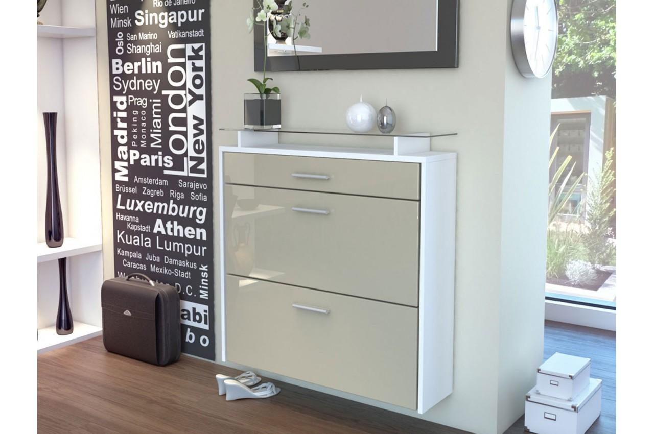 meuble range chaussures design suspendu bluebell large v2 cbc meubles. Black Bedroom Furniture Sets. Home Design Ideas