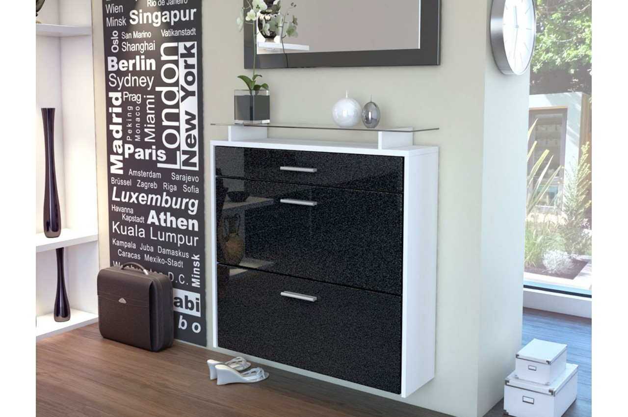 meuble range chaussures design suspendu cbc meubles. Black Bedroom Furniture Sets. Home Design Ideas