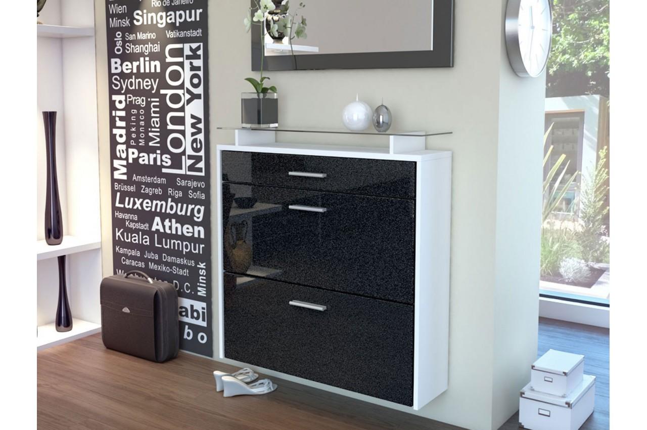 meuble range chaussures design suspendu bluebell large v2. Black Bedroom Furniture Sets. Home Design Ideas