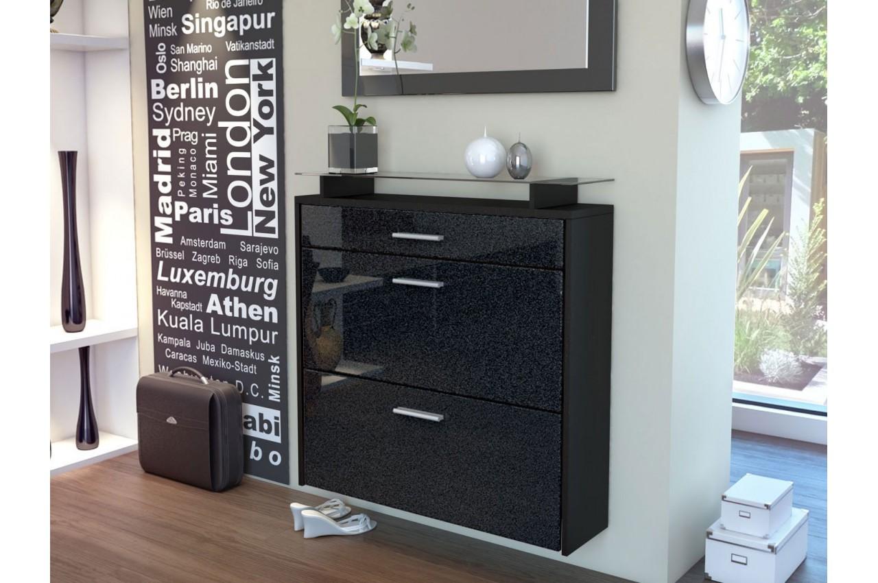 meuble chaussures mural pas cher cbc meubles. Black Bedroom Furniture Sets. Home Design Ideas