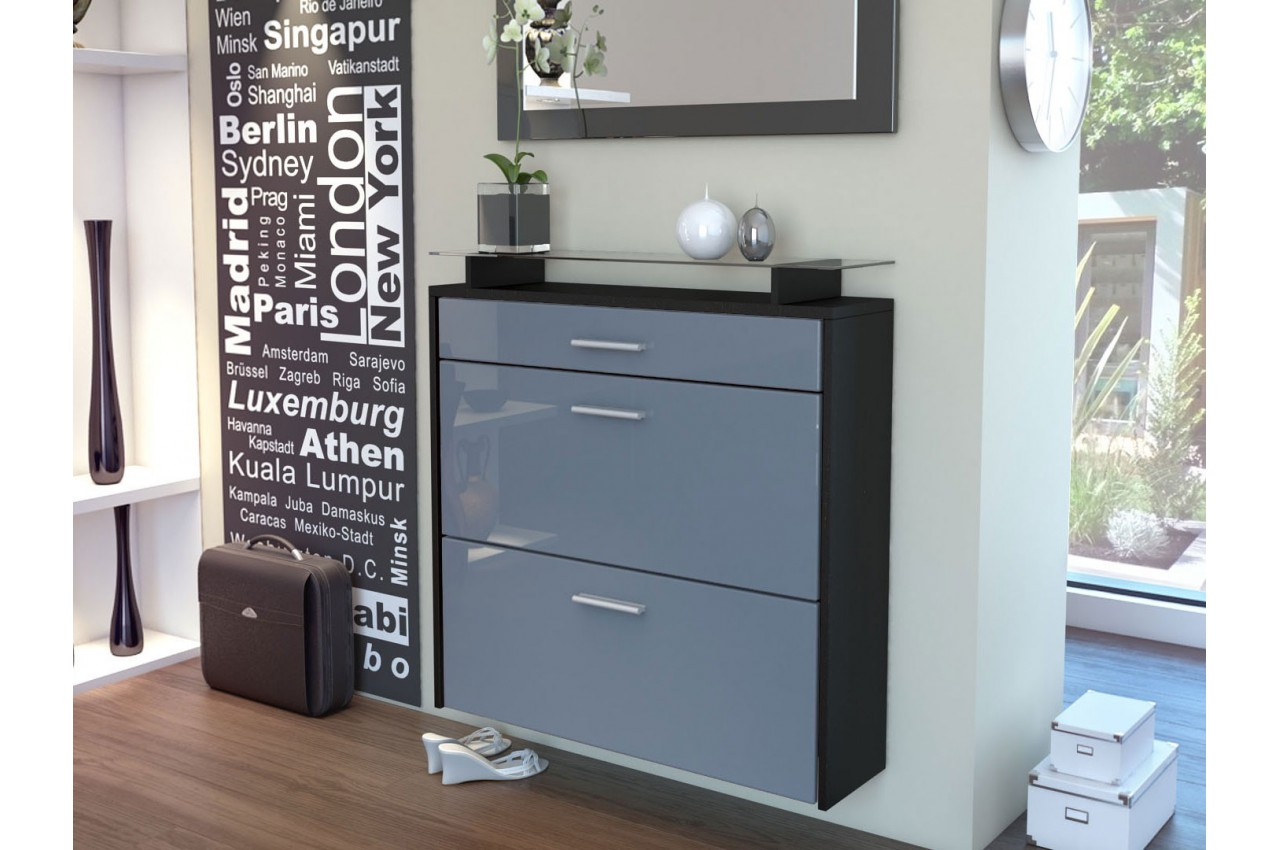meuble chaussures mural pas cher bluebell large v2 cbc meubles. Black Bedroom Furniture Sets. Home Design Ideas