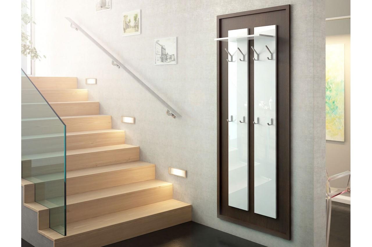 porte manteaux mural design 170 cm isa cbc meubles. Black Bedroom Furniture Sets. Home Design Ideas