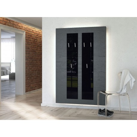 vestiaire mural d 39 entr e design 140 cm isa cbc meubles. Black Bedroom Furniture Sets. Home Design Ideas