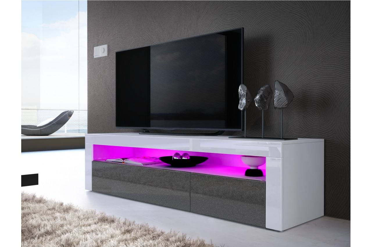 Meuble banc t l design dylan cbc meubles for Meuble tele design