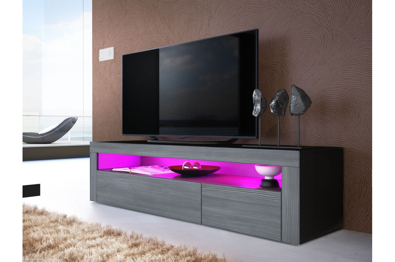 Meuble tv bas design dylan cbc meubles for Meuble tv bas
