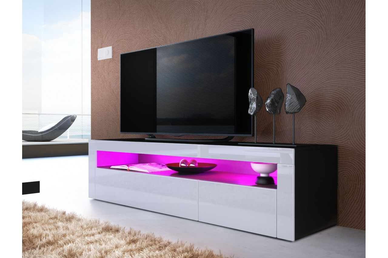 Meuble tv bas design dylan cbc meubles - Meuble bas design salon ...