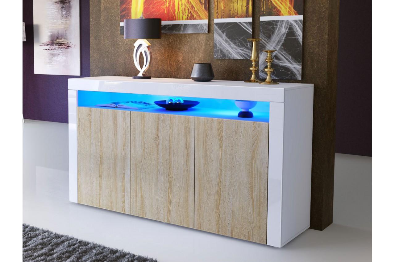 Meuble buffet s jour design dylan cbc meubles for Buffet meuble design