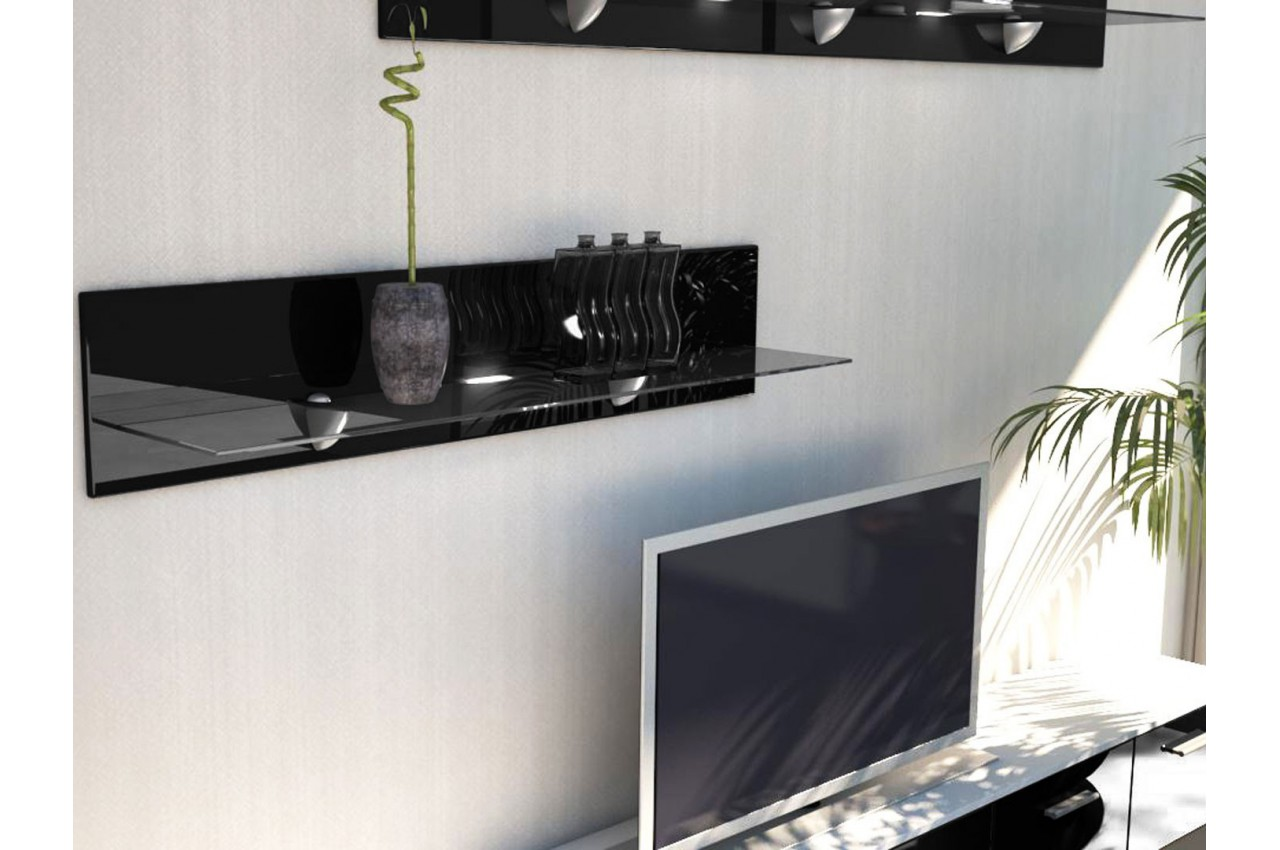 Tag re murale design 98 cm mow cbc meubles - Etagere murale gris anthracite ...
