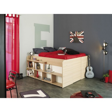Adulte lit adulte lit combin 140x200 cm gain de place roxy - Table gain de place ikea ...
