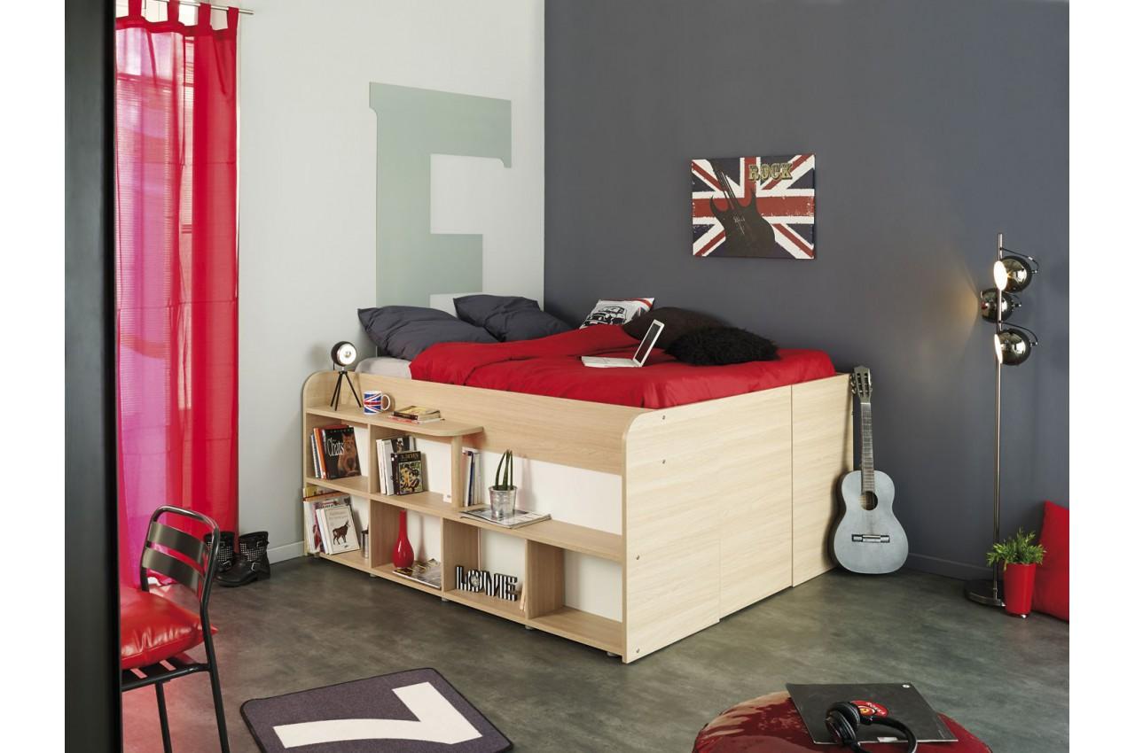 Lit multifonctions gain de place roxy cbc meubles - Lit 2 places gain de place ...